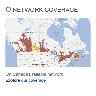 Network Coverage on Canada's reliable network - Explore our coverage